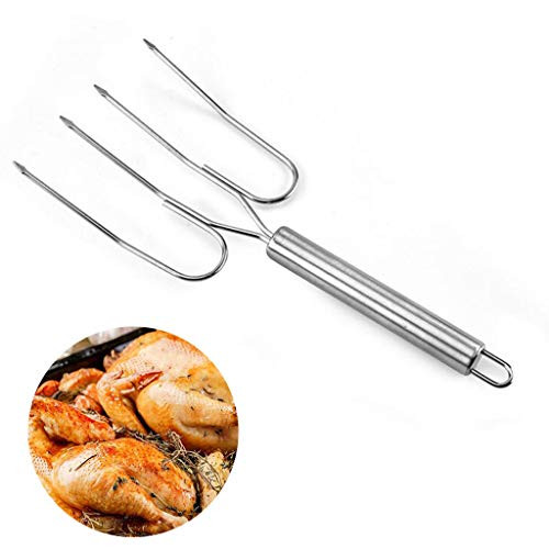 Lowest Prices! Alisy 2pcs Barbecue Fork, Stainless Steel Barbecue Tools - for Meat Grill Fork Outdoo...