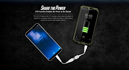HOMTOM ZOJI Z8 - 5,0 Zoll 4G FDD-LTE Smartphone, IP68 Wasserdicht, Android 7.0 Octa Core 4GB+64GB, Fingerabdruckscanner, OTG, 4250mAh, Doppelkamera...