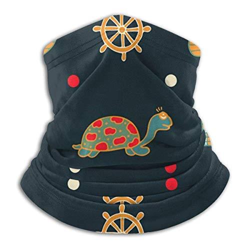 RuiShuoPiCao Polaina para el cuello con diseño de ancla de las tortugas, máscara para el sol, bufanda mágica