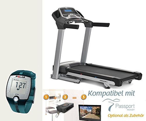 Horizon Paragon 6 Laufband Fitness + Polar Pulsuhr FT1