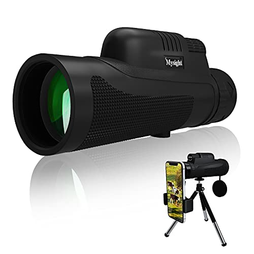 12X50 HD Monocular Telescope for Adults & Kid, High Power Waterproof BAK4 FMC Prism Monocular with Holder & Tripod, Dual Focus Scope for Bird Watching, Camping, Hiking
