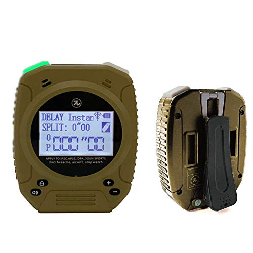 Shot Timer - 3 in 1 Shot Timer for Firearms Airsoft Stop Watch Perfect for Pistols Rifle Dry Fire in USPSA, IPSC, APSC, IDPA, 3 Gun, Steel Challenge (Shot Timer Gray with Belt Clip)