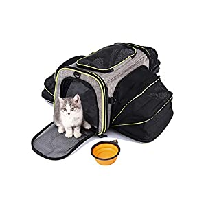 HOTLANTIS Cat Carrier Dog Carriers Airline Approved Soft-Sided, Pet Travel Bag Portable Collapsible for Small Dogs and Puppy