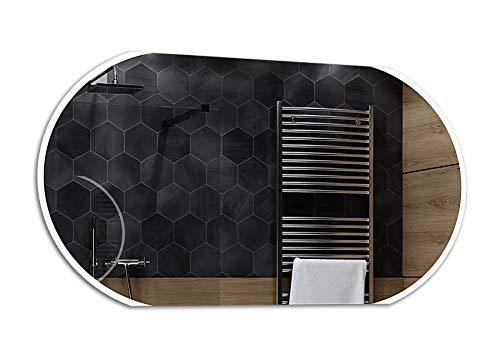 Alasta® | Lichtspiegel mit LED Beleuchtung | Viele Größen | Heizmatte zu Wähle | Wandspiegel Badezimmerspiegel Spiegel LED Badspiegel Spiegelwand | Baltimore