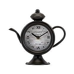 IMAX Teapot Table Clock, Bronze