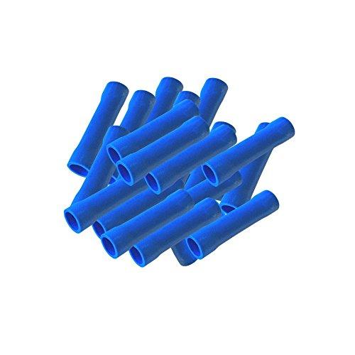 Stossverbinder vollisoliert blau 50x Stoßverbinder 1,5 - 2,5 mm isoliert Crimpzange Quetschverbinder Kabelverbinder Crimp Zange Verbinder Kabelschuhe kfz ARLI