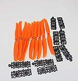 Lucsiky 10 pcs/lot RC Avion Orange Hélices EP1160 EP1060 EP9050 8060 6035 5030 Accessoires pour RC Modèle Avion Remplacer GWS-22,9 cm * 6 mm