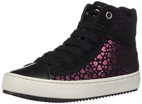 Geox Mädchen J Kalispera Girl D Hohe Sneaker, Schwarz (Black C9999), 31 EU
