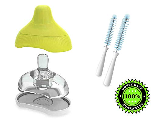 For Sale! Kiinde Active-Latch 2-Pack Nipple with Case in Slow Flow Plus Kiinde Nipple Brushes (Set o...