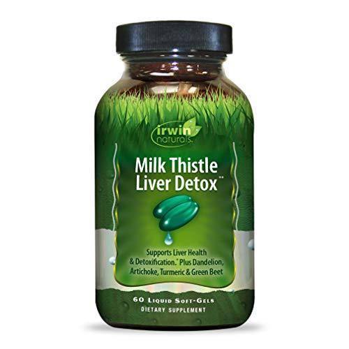 Irwin Naturals Milk Thistle Liver Detox with Dandelion, Artichoke, Turmeric & Green Beet Root - 60 Liquid Softgels