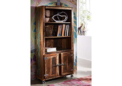 MASSIVMOEBEL24.DE Massivmöbel lackiert Holz Eisen Altholz Industrial-Stil Regal Massivholz Holz Möbel Freezy #33