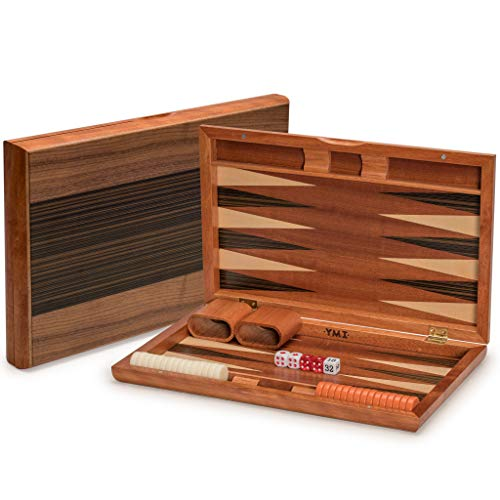 Yellow Mountain Imports 15: Mid-entry Wooden Backgammon Set