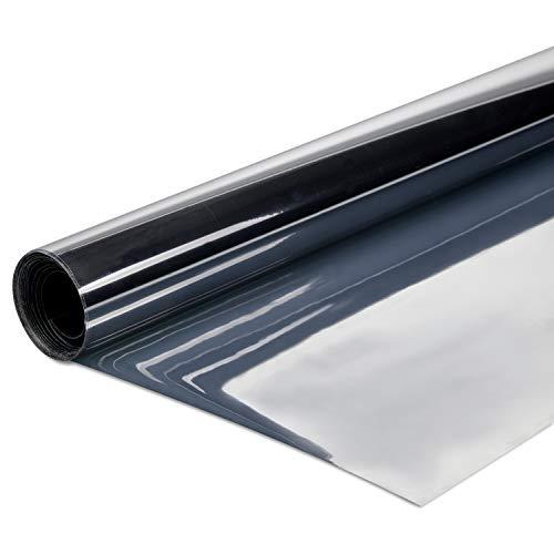 SOLAR-TEC Premium Spiegelfolie 300 x 76cm – Sonnenschutz – 99 % UV-Schutz – Sichtschutz – 55 % Wärmereflektion – Fensterfolie – selbstklebend