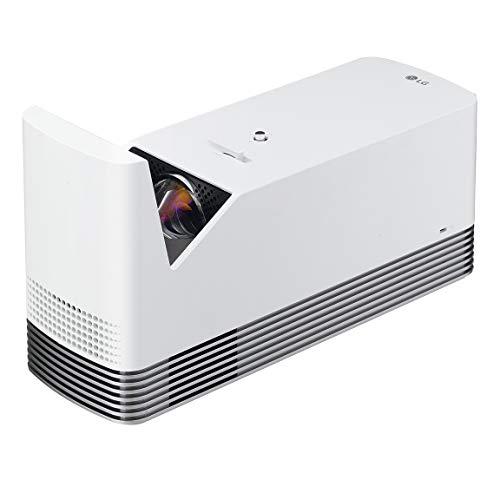 "LG DLP Projector 120"" Ultra Short Throw Laser Smart TV Home Theater CineBeam, 1500 ANSI Lumens,20,000 Hour Lamp Life, LG Smart TV, Bluetooth, USB, Dual HDMI - White"