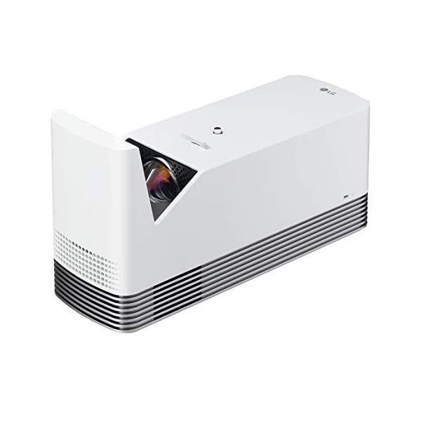 LG DLP Projector 120″ Ultra Short Throw Laser Smart TV Home Theater CineBeam, 1500 ANSI Lumens,20,000 Hour Lamp Life, LG Smart TV, Bluetooth, USB, Dual HDMI – White