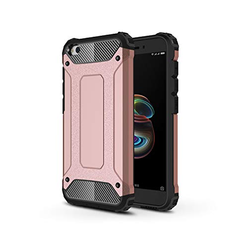 TANYO Funda Adecuado para Xiaomi Redmi Go, Heavy-Duty Anti-Caída Phone Case, Extraíble 2 en 1 a Prueba de Golpes Robusto y Durable Fashion Ultra-Thin Funda Protectora, Oro Rosa