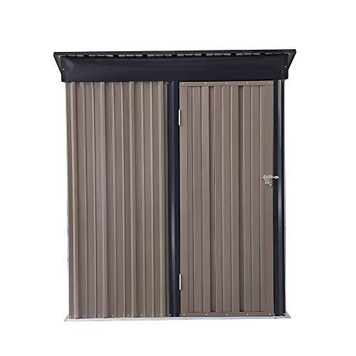 OVASTLKUY 5 x 3 ft OutdoorSteel Storage Shed Metal Roof Backyard House storage shed kit Garden Vented Storage Shed