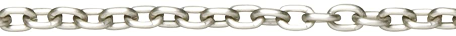 Cousin 34718002 Jewelry Basics 100-Inch/254cm Small Oval Chain, Silver