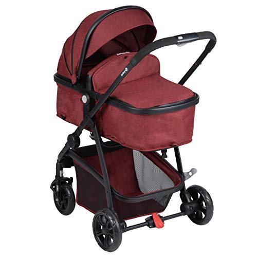 Safety 1st 1249668000 kinderwagen Hello 2-in-1, opvouwbare buggy, bruikbaar vanaf de geboorte tot maximaal 15 kg, rood