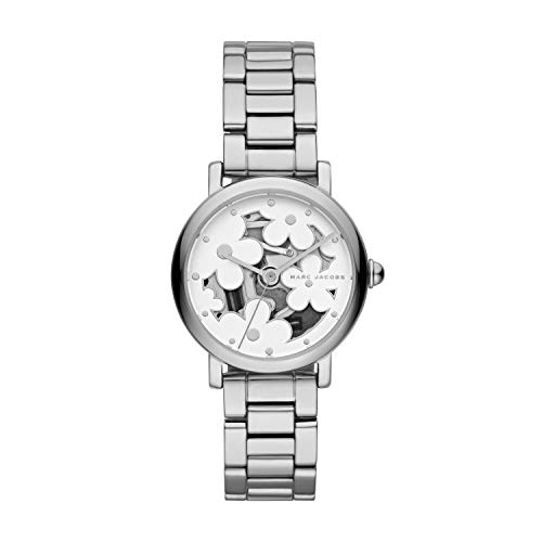 Marc Jacobs Women's Classic Analog-Quartz Stainless-Steel Strap, Silver, 14 Casual Watch (Model: MJ3597)