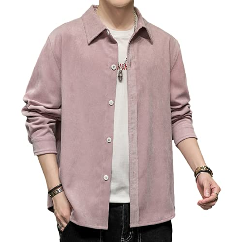 Camisa de Manga Larga para Hombre Color slido Simple Moda Casual Cmodo Trabajo Diario de Oficina Camisa de Gran tamao Regular XXL
