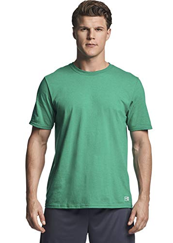 Russell Athletic mens Performance Cotton Short Sleeve T-Shirt, retro heather green, XL