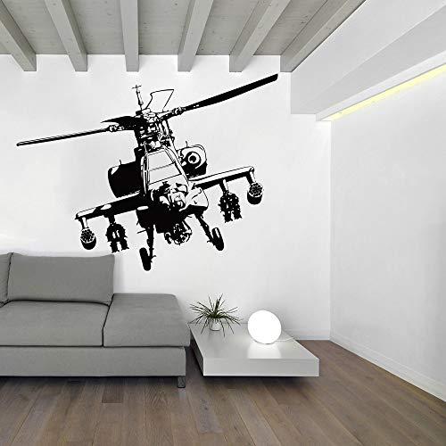 Opprxg Helicóptero Pegatinas de Pared habitación de niño Dormitorio ejército Tatuajes de Pared Sala de Estar Vinilo de guardería decoración del hogar Mural 56x42 cm