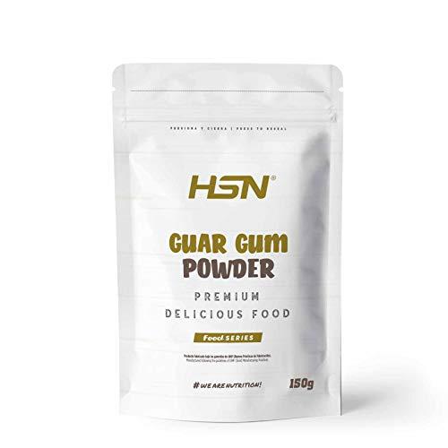 Goma Guar en Polvo de HSN | Espesante Natural y Saludable para Recetas | Fuente de Fibra + Saciante | Vegano, Sin Gluten, Sin Lactosa | 150 gr