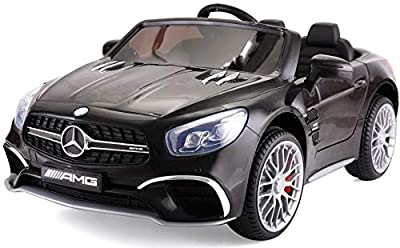 TOBBI Licensed Mercedes Benz 12V Kids Ride On Car with Remote Control MP3 Black