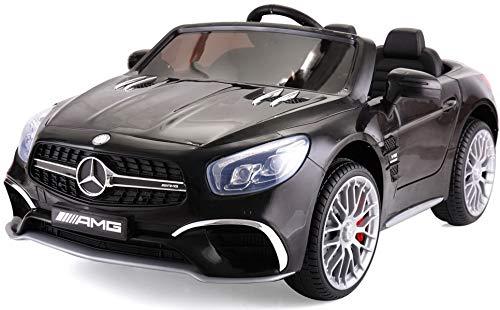 TOBBI Licensed Mercedes Benz 12V Kids Ride On Car with Remote Control MP3 Black