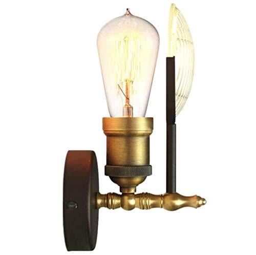 RJJ. Lampada da Parete Lampada da Parete Industriale del Metallo Creativo dell'Annata Elegante Bed Lampada Interna della Luce della Parete, Golden, A