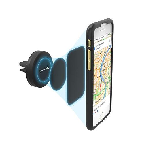 Sabrent Magnetische Universal-KFZ Smartphone Halterung für Lüftungsgitter (Air Vent) geeignet für jede Handy: iPhone, Samsung, LG, Nexus, etc. (CM-MGHB)