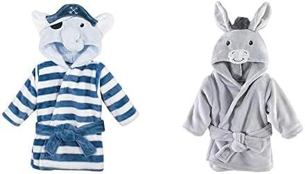 Hudson Baby Boy Plush Animal 2-Pack Pirate Sales results No. 1 Elepha Bathrobe Face 25% OFF