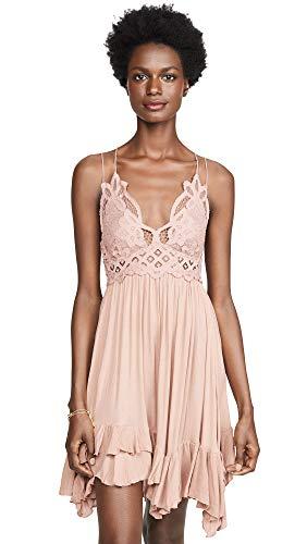 Free People Women's Adella Slip Dress, Rose, Pink, Medium