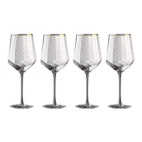 N/A Juego de Copas de Vino Tinto, Copa para el hogar, Copa de Cristal Personalizada, Flauta de champán, Copas de Vino Tinto Phnom Penh (4 Piezas)