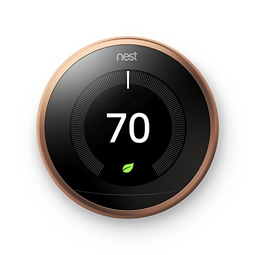 Nest T3021US Learning Thermostat 3rd Gen (Copper) + Deco Gear 2 Pack Wifi Smart Plug