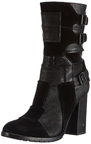 Fornarina Damen Alek Biker Boots, Schwarz (Black / 0000), 37 EU