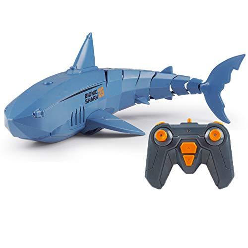 Mini mecánico Tiburón Pez Juguete eléctrico para niños Barco RC Juguete acuático...