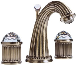 Santec Monarch Crystal Collection Widespread Lavatory Faucet - 1120CD75