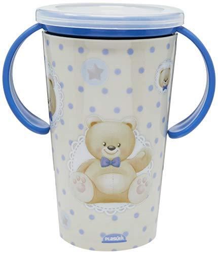 Copo Magic com Alça 280 ml Urso, Plasútil, 008339-3621, Azul
