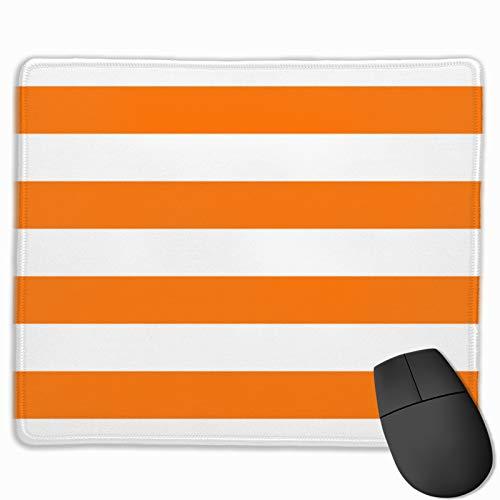 Gaming-Mauspad, helles Tumeric, Orange und Weiß, breit, horizontal, Cabana-Zelt, Streifen, Mauspad, rechteckig, rutschfest, Gummi, Bürozubehör, Schreibtisch-Dekoration, Mauspads für Computer Laptop