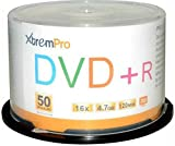 XtremPro DVD+R 16X 4.7GB 120Min Recordable DVD 50 Pack Blank Discs in Spindle - 11026