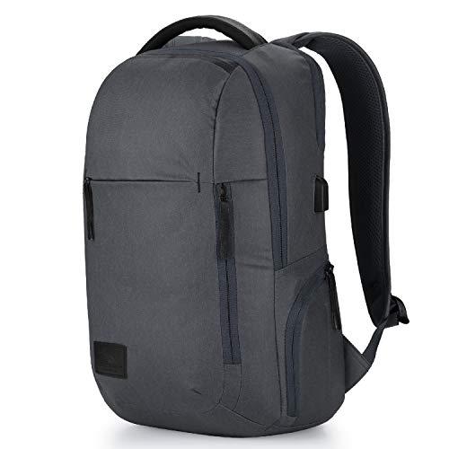 High Sierra Business Proslim USB Laptop Backpack, One Size, Mercury Heather/Black
