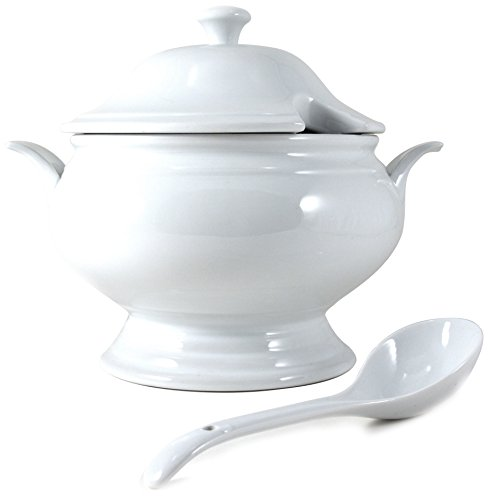 Omniware Culinary White Soup Tureen & Spoon Set