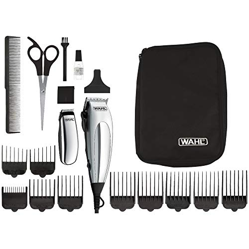 Wahl 79305-1316 HomePro Vogue Deluxe - Cortapelos con accesprios, con cable, battery-powered, plateado