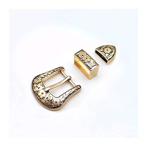 Fibbia per Cintura Mestiere 25mm Fai da Te Larghezza Interna di Lusso della Cinghia del Metallo delle Donne di Colore Dorato 3pcs Fibbia Ad Ardiglione/Set