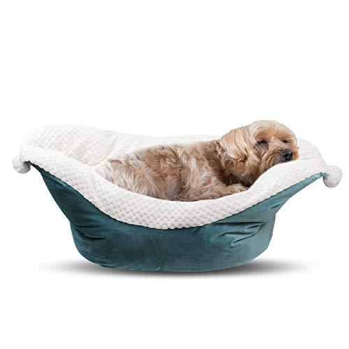 DKNBI Hundebett Bootsförmiges weiches Hündchenbett Bequeme Haustierhunde-Schlafunterlage Haussofa warmes Hundebett Welpenzwinger