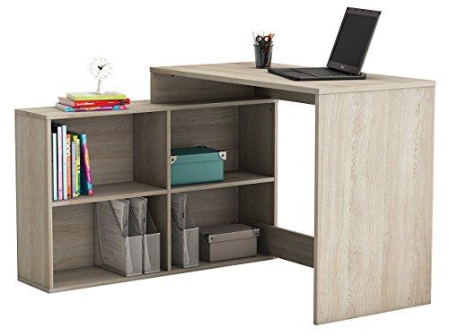 möbelando Eckschreibtisch Schreibtisch Arbeitstisch Bürotisch Tisch Dewirovo I (Sonoma/Eiche)