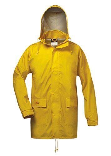 NORWAY Giacca impermeabile in PU con cappuccio, giallo, taglia: 4XL