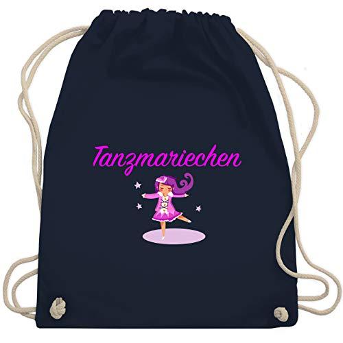 Shirtracer Karneval & Fasching - Tanzmariechen pink - Unisize - Navy Blau - turnbeutel tanzmariechen - WM110 - Turnbeutel und Stoffbeutel aus Baumwolle